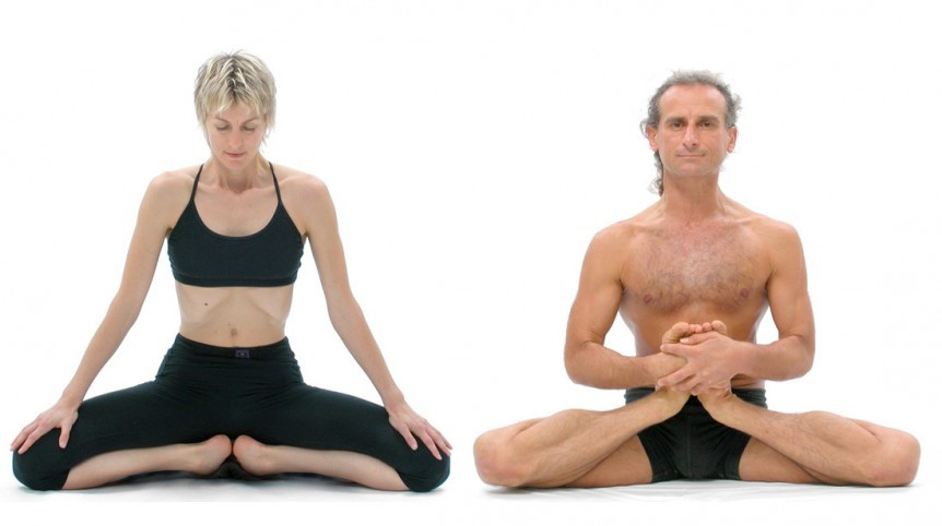 Treating knee problems with yoga therapy