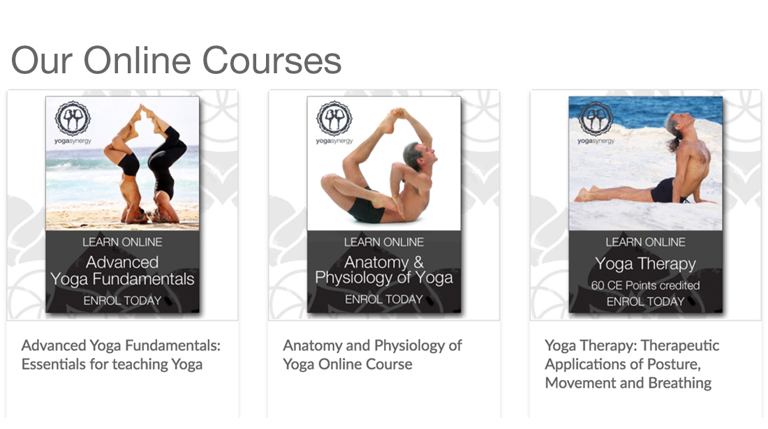 online courses yoga synergy