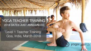 Teacher Training 2018 Dates