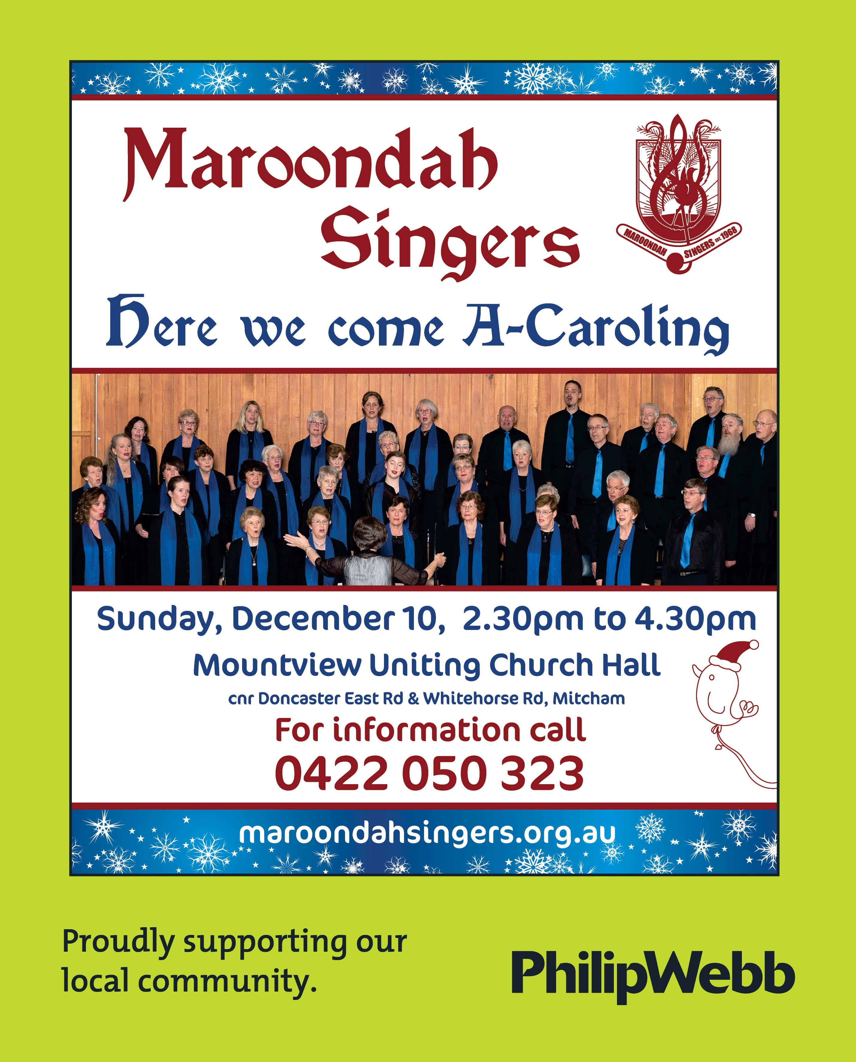 Maroondah Singers - Here We Come A-Caroling