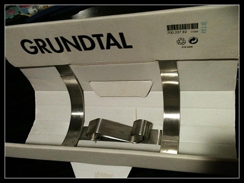 Fireclay Farmhouse Sink Ikea ~   Australia  Ziilch > Ikea Grundtal (i think paper towel holder