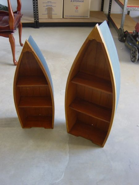 Small Boat Shaped Shelves