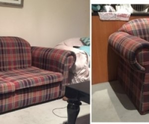 1 Three Seater Sofa and 2 Matching Armchairs