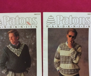Patons Handknits Booklet 1026 and 1022 Men's 8 ply knits