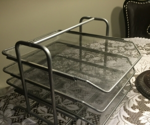 Free silver document tray