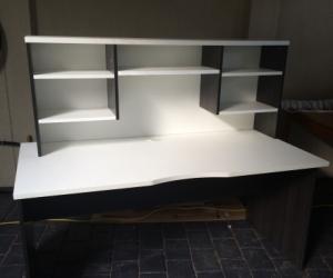 Home office desk and shelf unit