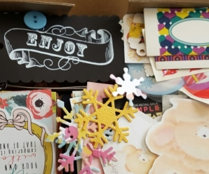 Box of items for journalling