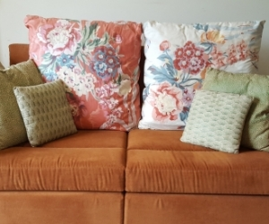 2 seater couch + cushions