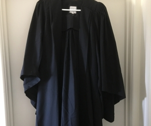Graduation gown and Mortar Board hat