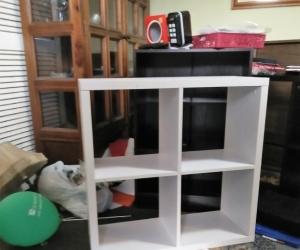 White Bookcase - Cube / Small