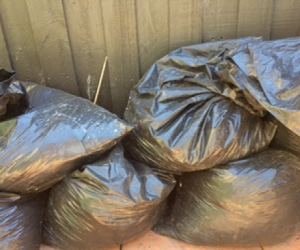 Bags of clean soil/fill