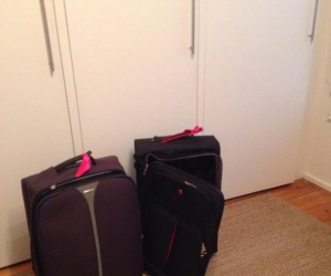 2 x Wheely Suitcases (1 with broken handle) Pick up Croydon, Vic