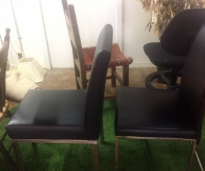 Two Leather Dining Chairs, COLLINGWOOD, VIC
