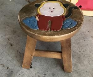 Kids wooden stool