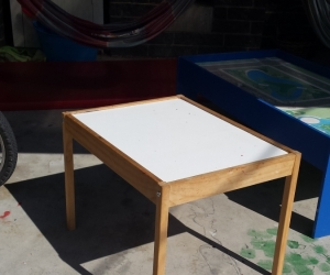 Small wooden kids table