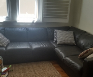6 seater leather corner sofa