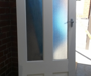 Door - 4 Panel with Obscured Glass