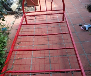Red single bed