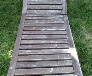 Outdoor Wooden Sun Lounge - needs repair