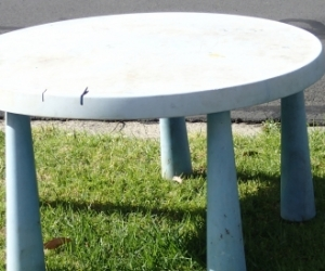 Blue Plastic kids table ikea