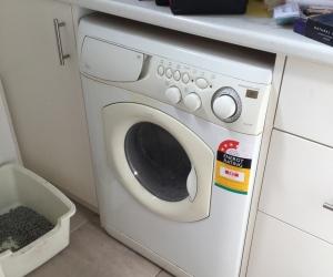 Tired Old washing machine