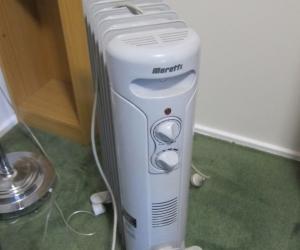 Moretti 1500W Light Grey 7 Fin Oil Column Heater