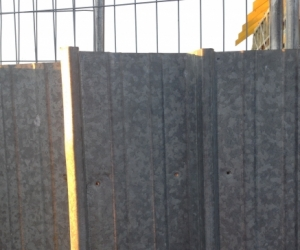 Clip lock steel sheets from old fence