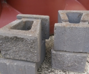 Four retaining wall bricks