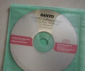 SANYO DIGITAL CAMERA SOFTWARE