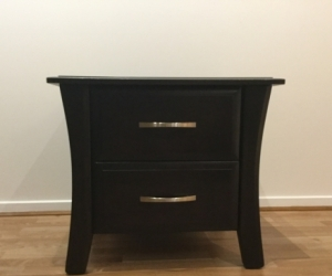 Dark timber side table
