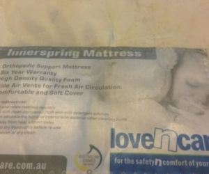 Innerspring Cot Mattress - Love N Care