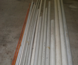 PVC PIPING - VARIOUS SIZES AND LENGTHS