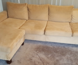 Comfy three seater couch with chaise - pick up from Ascot Vale