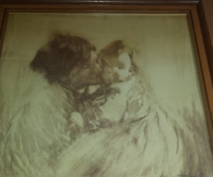 Framed print Woman and Child