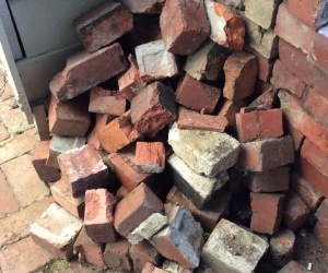 Red brick pieces -FREE