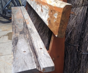 Ironbark bench seats x 2