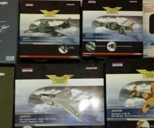 Die-cast model military aircraft