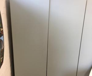 Timber Shelves with doors.