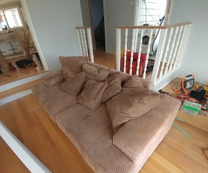 2 couches average condition as is condition