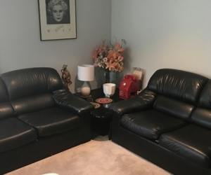 2 x 2 seater couches - black