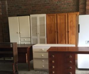 Free old Wardrobes, desks, working fridge, bookcase etc