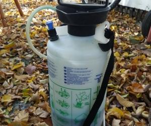 Pesticide herbicide spray bottle