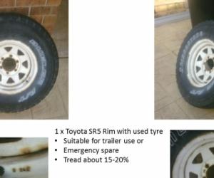 Toyota SR5 Sunraysia Wheel - 6 Stud