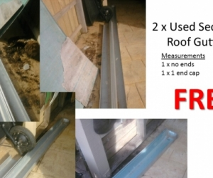 Roof Guttering (Zinc) - 2 Sections