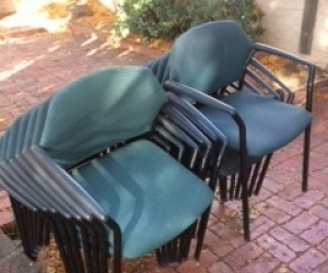 14 x Office meeting room chairs in fair condition