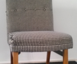 1960s houndstooth occasional chair