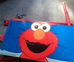 Free elmo toddler bed