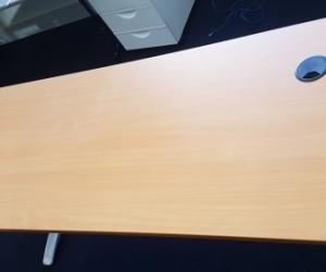 Office desk 1800 x 700. Metal legs.  Teak melamine top