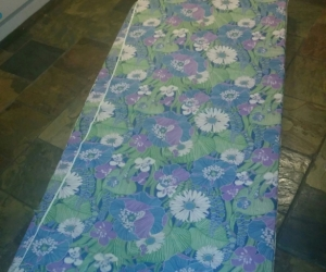 Single Foam Mattress with floral cover