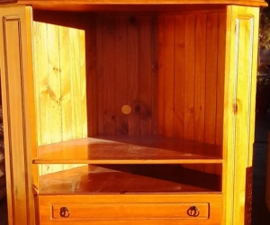 Free beautiful timber corner TV cabinet